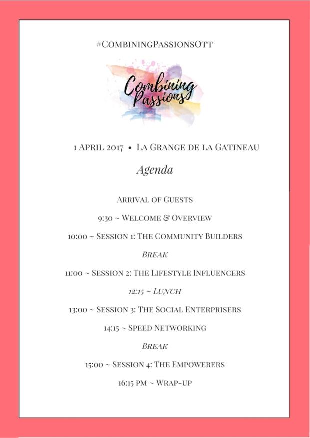 #CombiningPassionsOtt-March2017